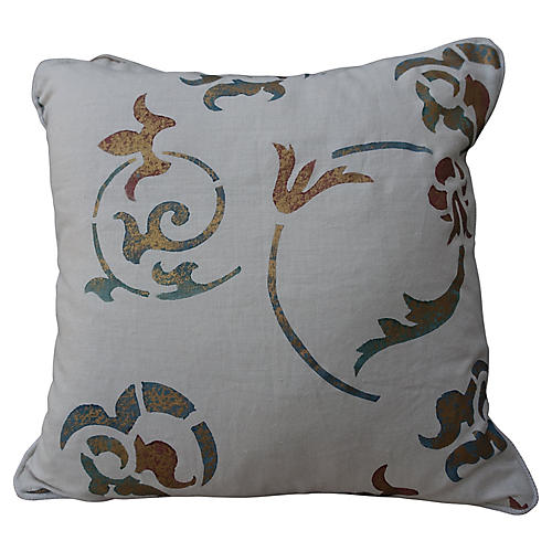 Linen Italian Style Pillows, Pair