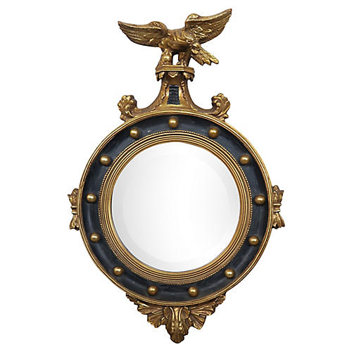 Gold Gilt Beveled Glass Federal Mirror