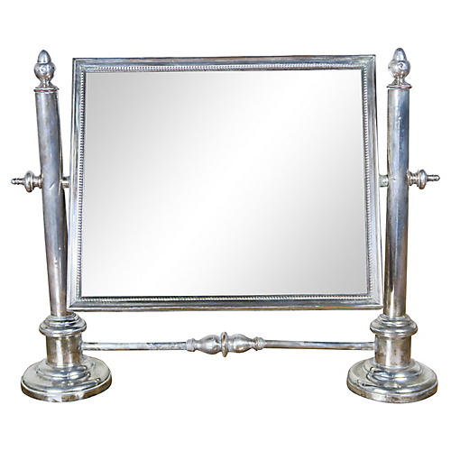 19th C. English Sheffield Vanity Mirror