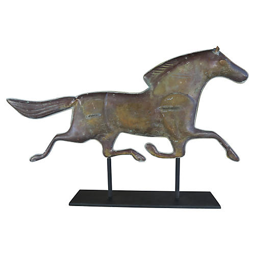 Dexter Horse Weathervane on Iron Base