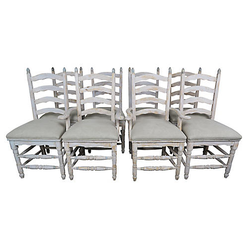 French Painted Dining Chairs, S8
