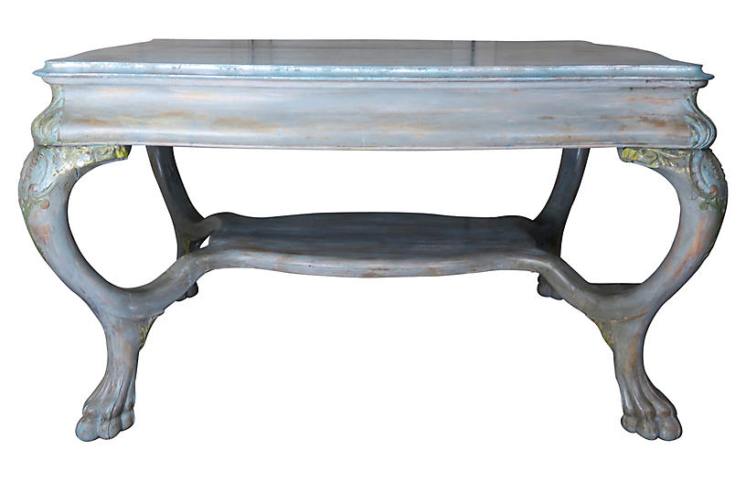 Swedish Painted Table w/Drawers
