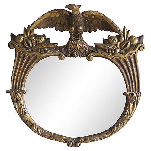 19th C. Federal Style Gilt Wood Mirror