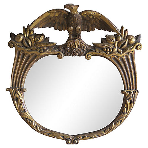 19th C. Federal Style Gilt Wood Mirror