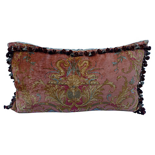 Grand Velvet and Silk Pillow