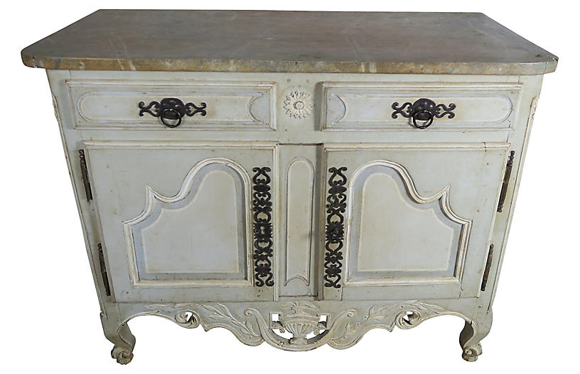 Early 19th C. Painted French Sideboard