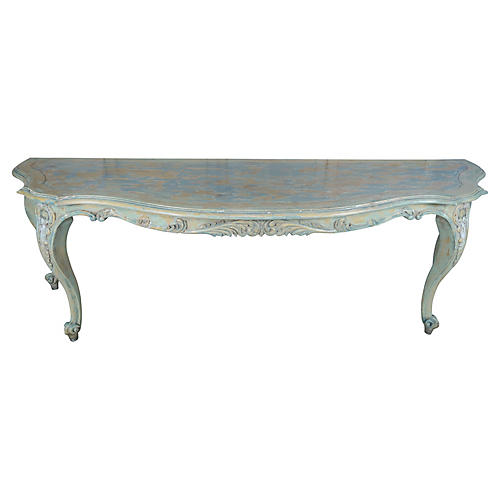 French Louis XV Style Painted Console