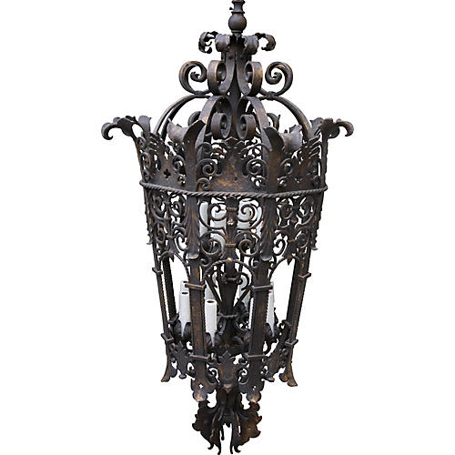 19th C. Spanish Iron Lantern