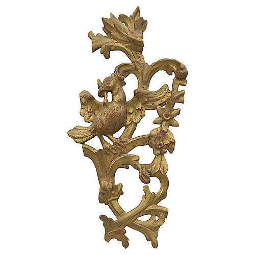 Italian Giltwood Fragment on Lucite
