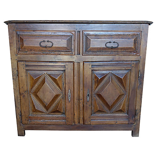 19th C. Spanish Walnut Cabinet