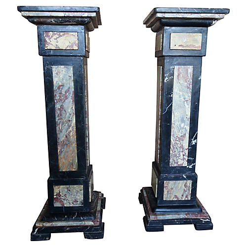 French Neoclassical Style Pedestals