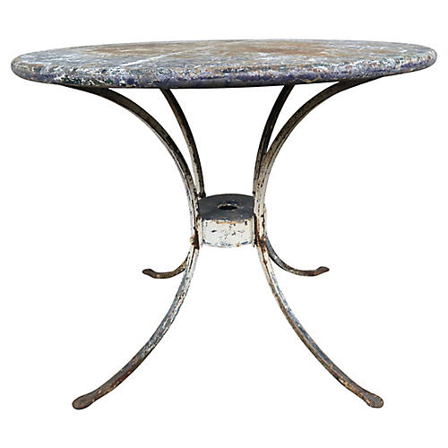 French Painted Iron Bistro Table