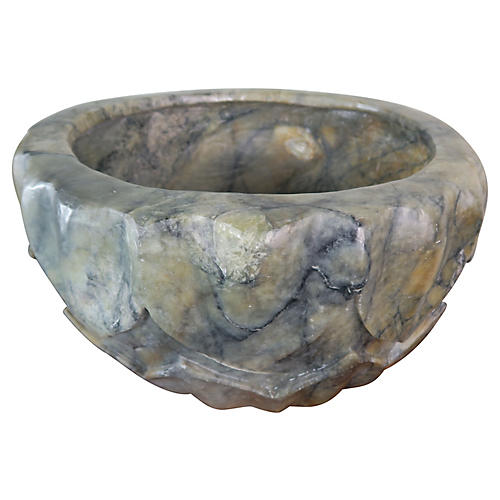 Italian Marble Sculptural Bowl