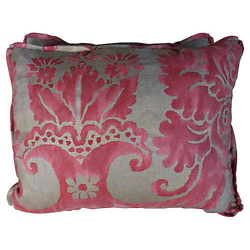 Pair of Pink Fortuny Pillows, Pair