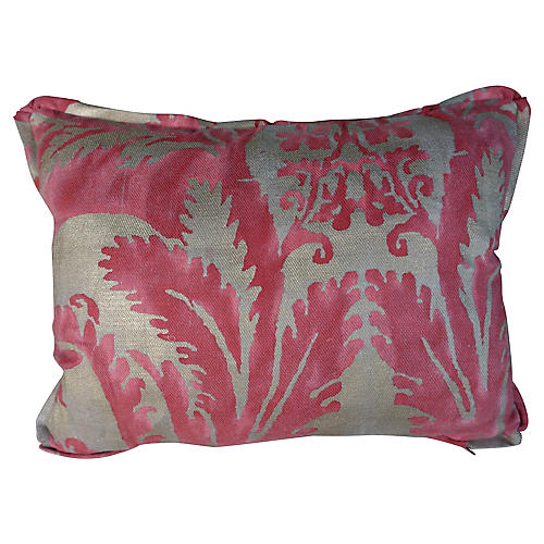 Pink & Silvery Gold Fortuny Pillows, Pr