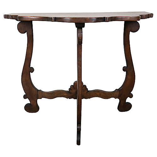 Spanish Walnut Console, C. 1930