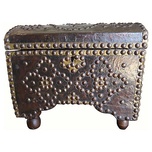 19th C. Spanish Leather Box