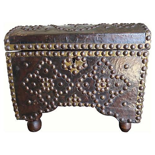 19th C. Spanish Leather Box