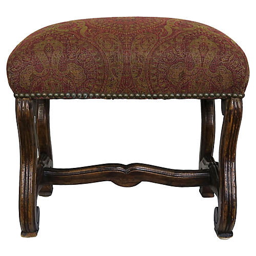 Spanish Carved Wood Bench C. 1900