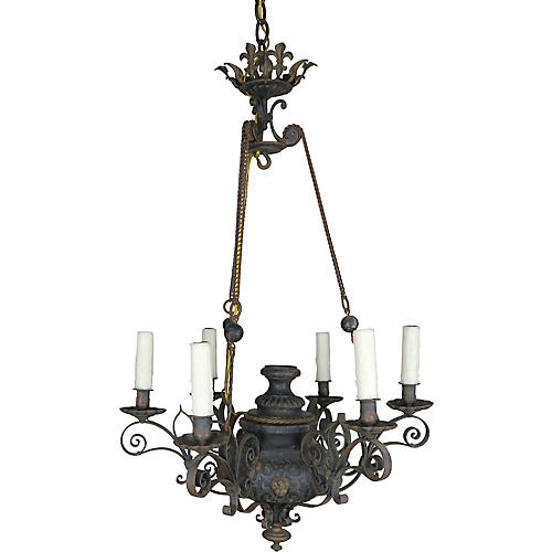 19th Century Six-Light French Chandelier