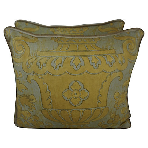 Fortuny Urn Pillows, Pair