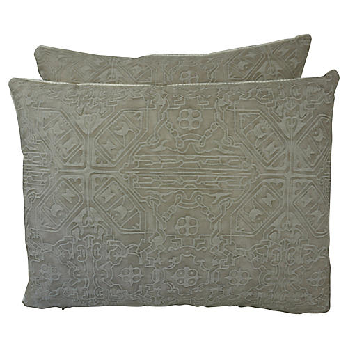 Fortuny Accent Pillows, Pair