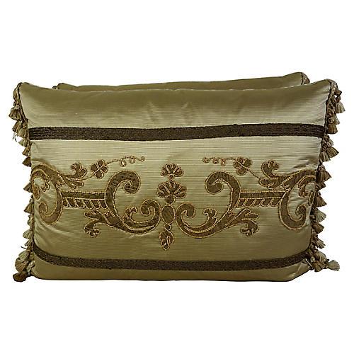 Custom Appliqued Pillows, Pair