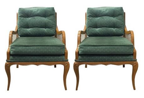 Midcentury Armchairs, S/2