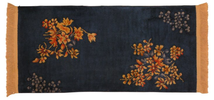 "Chinese Art Deco Rug, 1'10"" x 3'10"""