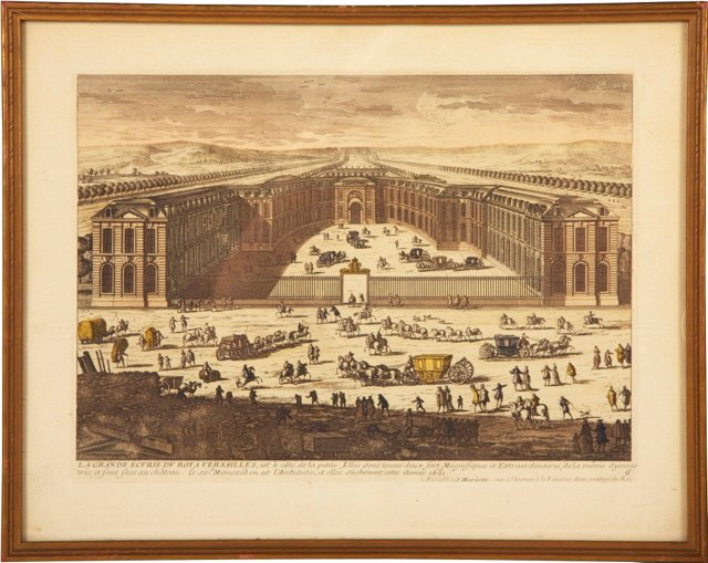 18th-C. Versailles Forecourt Engraving