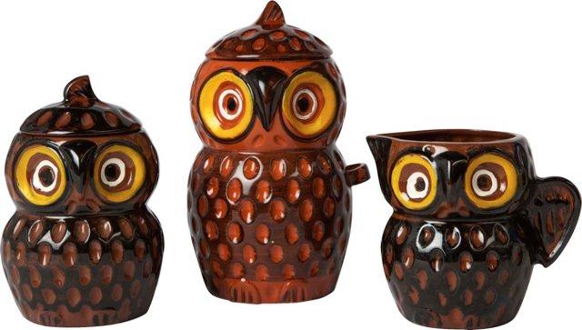 Owl Kitchen Set, 3 Pcs