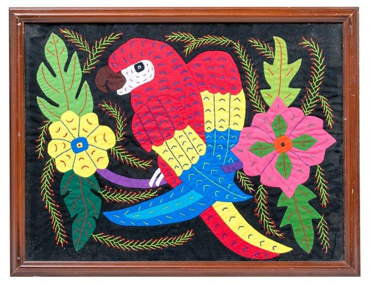 Tropical Parrot Appliqué