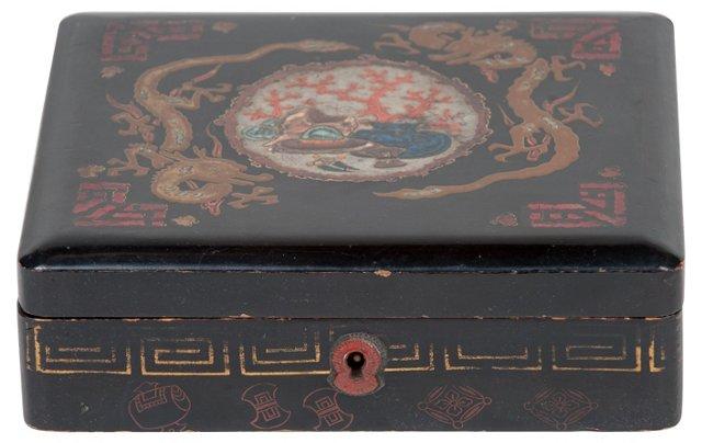 Victorian Black Lacquer Box