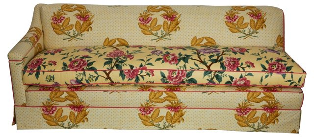 Floral Print Chaise