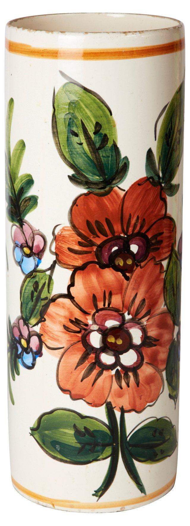 Red Floral Ceramic Umbrella Stand
