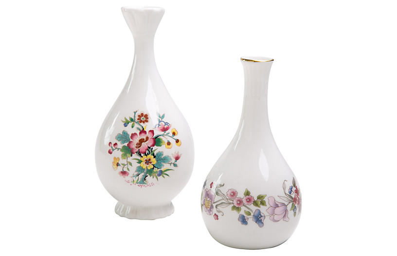 Wildflower Ceramic Bud Vases S2 Madcap Cottage Brands One
