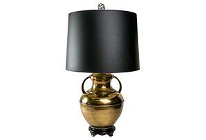 Urn Brass Lamp