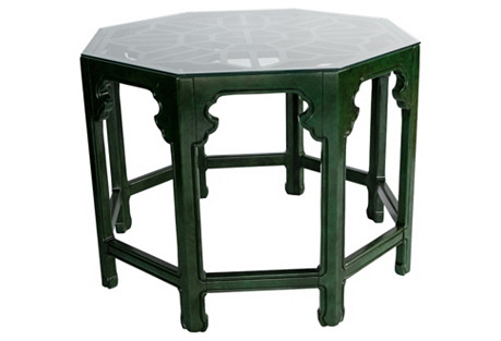 Green Chinoiserie Hall Table