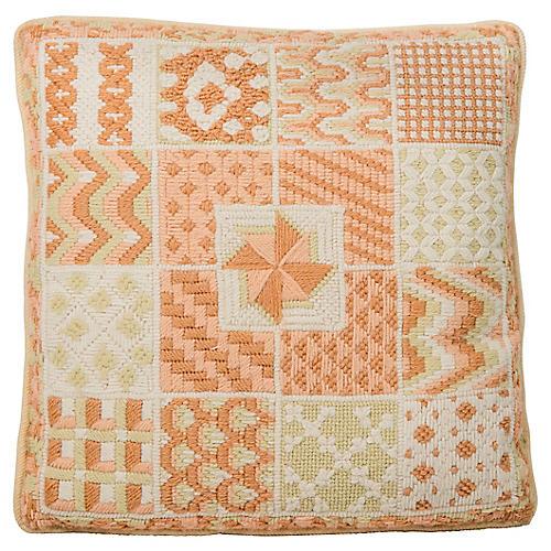 Patchwork Needlepoint Pillow