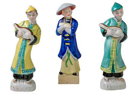 Asian Figurines, S/3