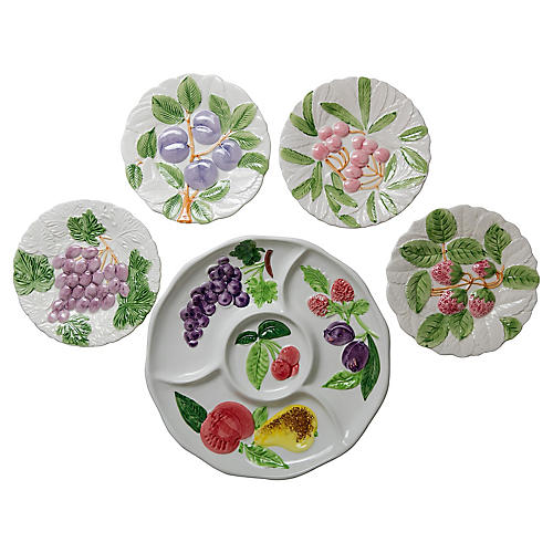 Fruit-Themed Serving Set, S/5