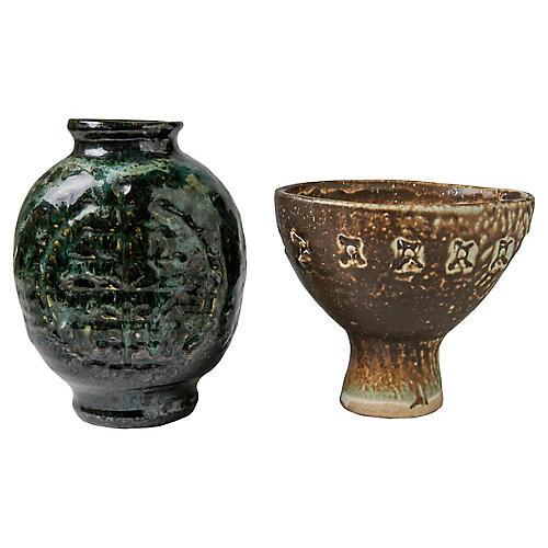 Midcentury Vases, S/2