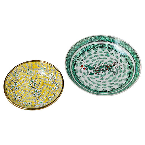 Asian Ceramic Dishes, S/2