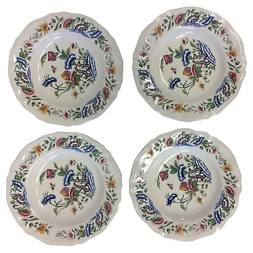 French Floral Bowls, S/4