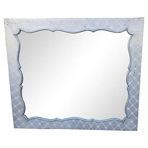 Silver Hollywood Regency Mirror