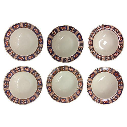 Late-19th-C. Chinoiserie Bowls, S/6