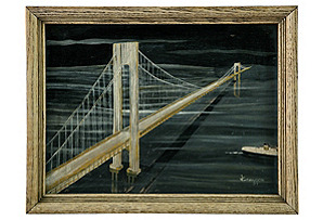 Framed Bridge Painting*