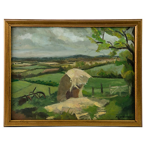 English Countryside Painting