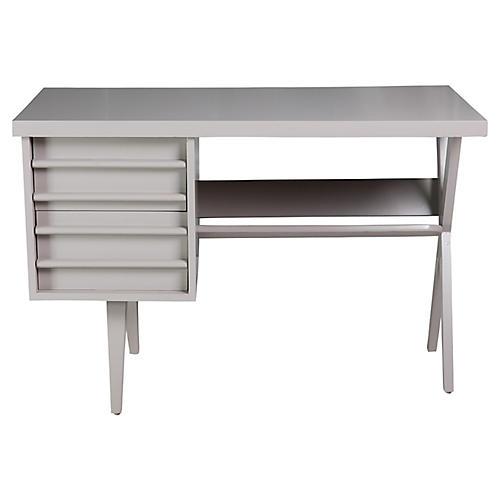 Midcentury Gray Desk
