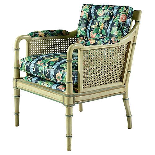 Floral Cane Chair